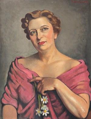 Henryk Berlewi (1894- 1967), Portret kobiety, 1952