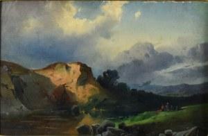 Chrystian Breslauer (1802-1882) - Przypisywany, Pejzaż