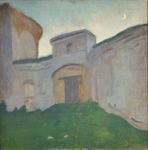 Stanisław Kamocki (1875-1944), Brama wjazdowa z księżycem, ok. 1905