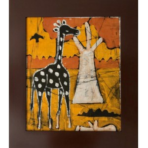 Ousman Bah, Żyrafa na tle baobabu