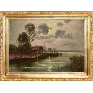 Ernst Hugo Lorenz-Murowana (1872-1950), Pełnia nad jeziorem