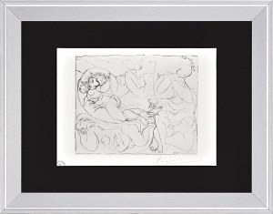Pablo Picasso (1881-1973), Flecista i trzy nagie kobiety [Flûtiste et trois femmes nues]