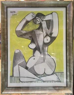 "Pablo Picasso, ""Nu accroupie"""