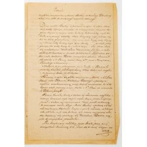 Feliks BĘDKOWSKI, ZDANIE WZGLĘDEM WIZERUNKU MATKI BOSKIEJ Z TWIERDZY PETERSBURSKIEJ W R. 1786 DO TAMTEJSZEGO ARSENAŁU ODDANEGO, 1837