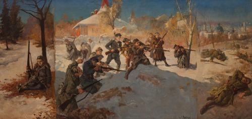 Stanisław KACZOR-BATOWSKI, TRYPTYK - ORLĘTA LWOWSKIE, 1936