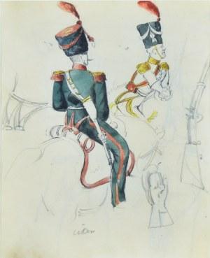 Stanisław Kamocki (1875-1944), Szkice umundurowania oficerów artylerii konnej armii napoleońskiej, ok. 1894
