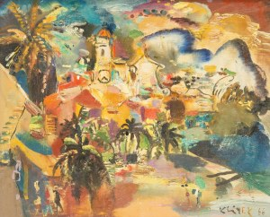 Ludwik Klimek (1912 Skoczów - 1992 Nicea), Villefranche, 1966 r.