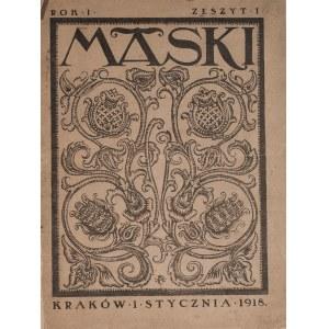 Antoni Procajłowicz (1877-1949), Maski, numer 1, rok I, styczeń 1918 r.