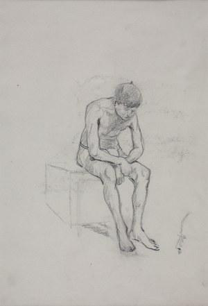 Karol Kossak (1896-1975), Akt siedzący