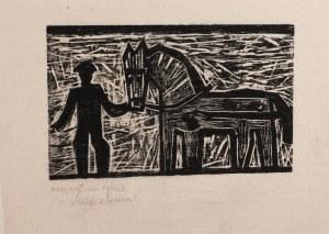Janina Kamińska (1924-1983), Chłop z koniem, ok. 1955