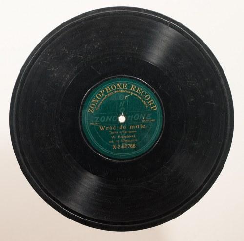 Wacław Brzeziński (1878-1955) - Baryton - Płyta, strony: a - Torna a Surriento, b - Santa Lucia