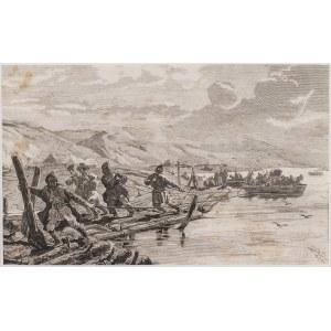 Józef Brandt (1841-1915) - Autor Obrazu, Przeprawa przez Dniepr, 1875