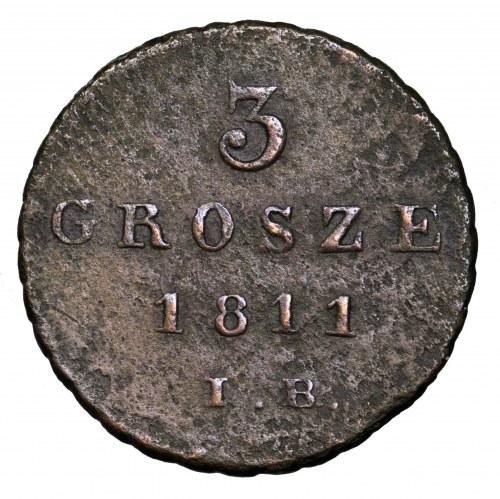 Księstwo Warszawskie, 3 grosze 1811 IB