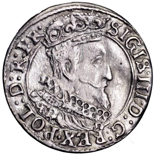 Zygmunt III Waza, grosz 1627, Gdańsk - ładny