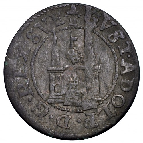 Szwedzka okupacja Rygi, Gustaw Adolf, 1-1/2 szeląga 1623 - rzadkość