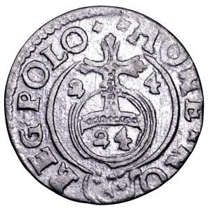 Zygmunt III Waza, półtorak 1624, Bydgoszcz - jednostronny, rewers, brockage, rzadkość