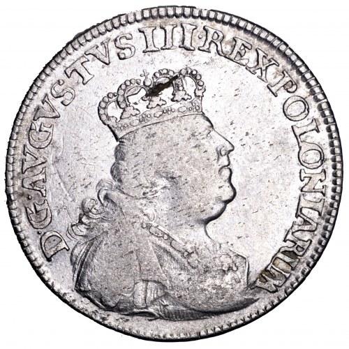 August III Sas, ort 1754 EC, Lipsk - wąskie popiersie, rzadki