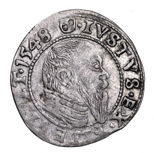 Prusy Książęce, Albrecht Hohenzollern, grosz 1548, Królewiec - ostatni, najrzadszy