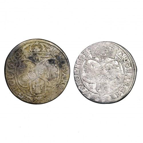 Jan II Kazimierz, zestaw 2 szóstaków