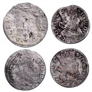 Zygmunt III Waza, zestaw 4 groszy litewskich, w tym 1608