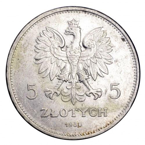 II Rzeczpospolita, 5 złotych 1930, Sztandar