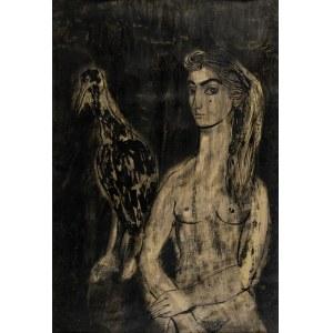 Leszczyńska-Kluza Danuta, Dziewczyna z ptakiem, 1959