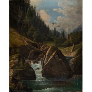 Schouppe Alfred, Potok w Tatrach, lat 60. XIX w.