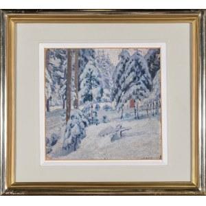 Wałach Jan, Pejzaż zimowy z Istebnej, 1921
