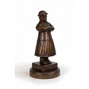 Autor Nieustalony, Dolnoślązak w płaszczu i kapeluszu, przełom XIX i XX wieku