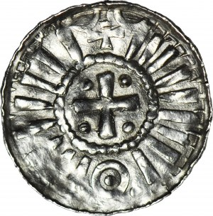 R-, Denar krzyżowy X/XIw. Świątynia za palisadą/ krzyż