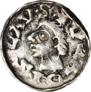 Władysław I Herman 1081-1102, Denar Kraków, pierwsza emisja - wczesny typ