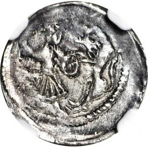 Bolesław I Wysoki 1163-1201, Denar, Wrocław, Biskup, menniczy
