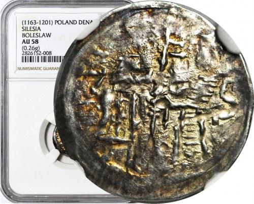 Bolesław I Wysoki 1163-1201, Denar ok. 1177-1201, Postacie/Krzyż szeroki, R2
