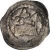 RRR-, Wacław II Czeski 1300-1305, Denar, mennica Sandomierz, Korona/ Lew w prawo