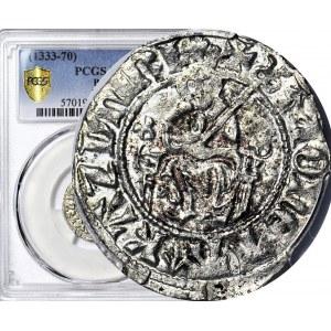RR-, Kazimierz III Wielki 1333-1370, Kwartnik duży (Półgrosz), Kraków, menniczy