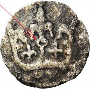 RR-, Władysław Jagiełło, 1386-1434, Denar, kółko ma koronie, lijia, krzyżyk, NIENOTOWANY