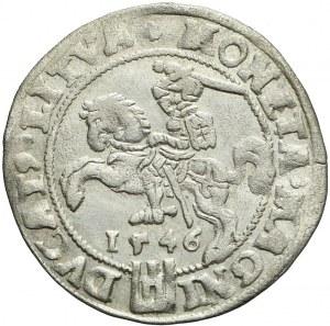 Zygmunt II August, Grosz na stopę litewską 1546, Wilno, bardzo ładny