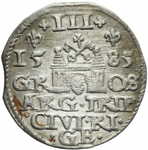 Stefan Batory, Trojak 1585, Ryga