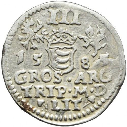 Stefan Batory, Trojak 1585, Wilno, ładny