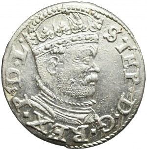 Stefan Batory, Trojak 1586, Ryga, menniczy