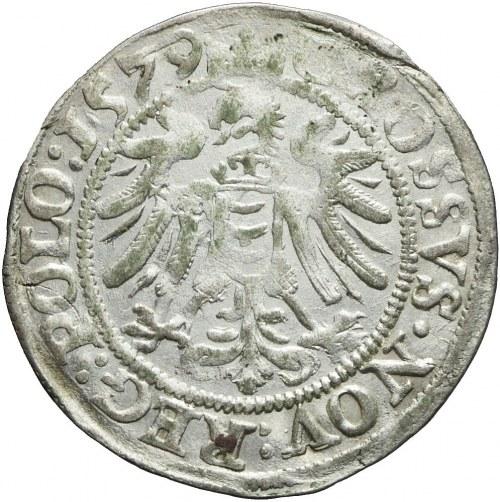 RR,- Stefan Batory, Grosz 1579, Olkusz, wąska głowa, bardzo rzadki