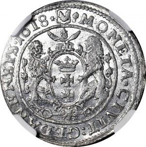 R-, Zygmunt III Waza, Ort 1618, Gdańsk, łapa niedźwiedzia, WYŚMIENITY!!!