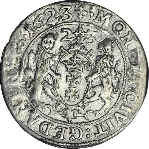 R-, Zygmunt III Waza, Ort 1623 Gdańsk PRV, dodatkowa PEŁNA DATA 1623 w otoku, R3