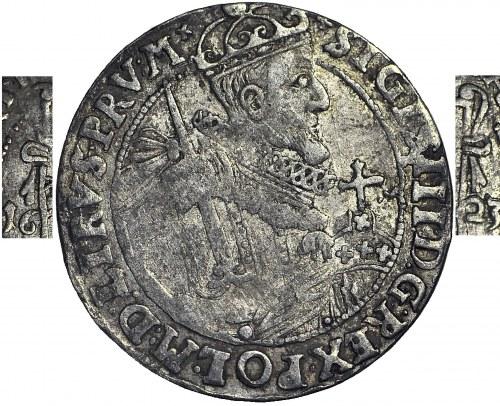 RR-, Zygmunt III Waza, Ort 1623, Bydgoszcz, KOKARDY, korona bez kratki z krzyżykami, b. rzadki