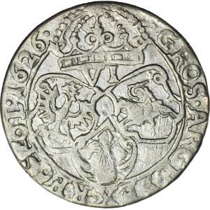 R, Zygmunt III Waza Szóstak 1626, Kraków, błąd MDG zamiast MDL