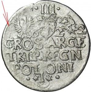 RRR-, Zygmunt III Waza, Trojak -622, Kraków, bez pierwszej cyfry daty