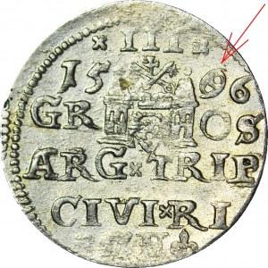 RRR-, Zygmunt III Waza, Trojak 1586, Ryga