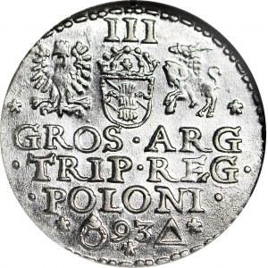 Zygmunt III Waza, Trojak 1593, Malbork, menniczy