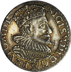 Zygmunt III Waza, Trojak 1594, Malbork, piękny