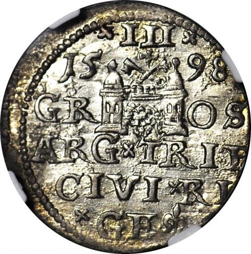 Zygmunt III Waza, Trojak 1598, Ryga, menniczy